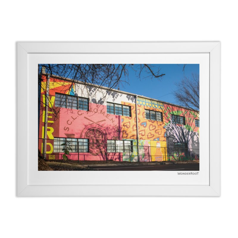 "Shanequa Gay ""Remembering How Sweet Auburn Is"" for WonderRoot's Off The Wall Home Framed Fine Art Print by WonderRoot's Artist Shop"