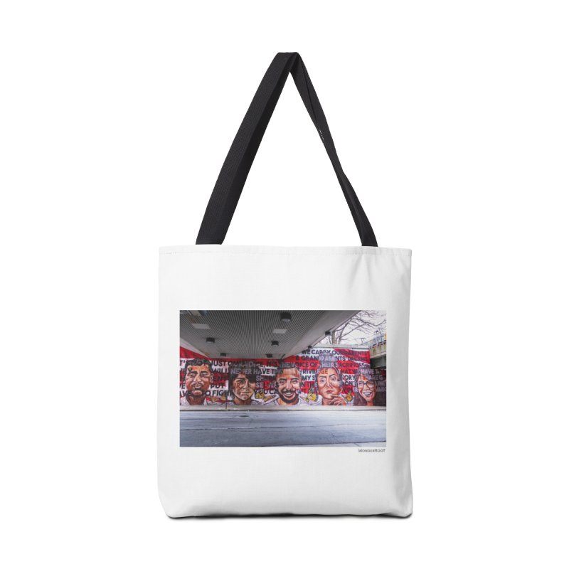 "Yehimi Cambron ""Monuments: We Carry The Dreams"" for WonderRoot's Off The Wall Accessories Tote Bag Bag by WonderRoot's Artist Shop"