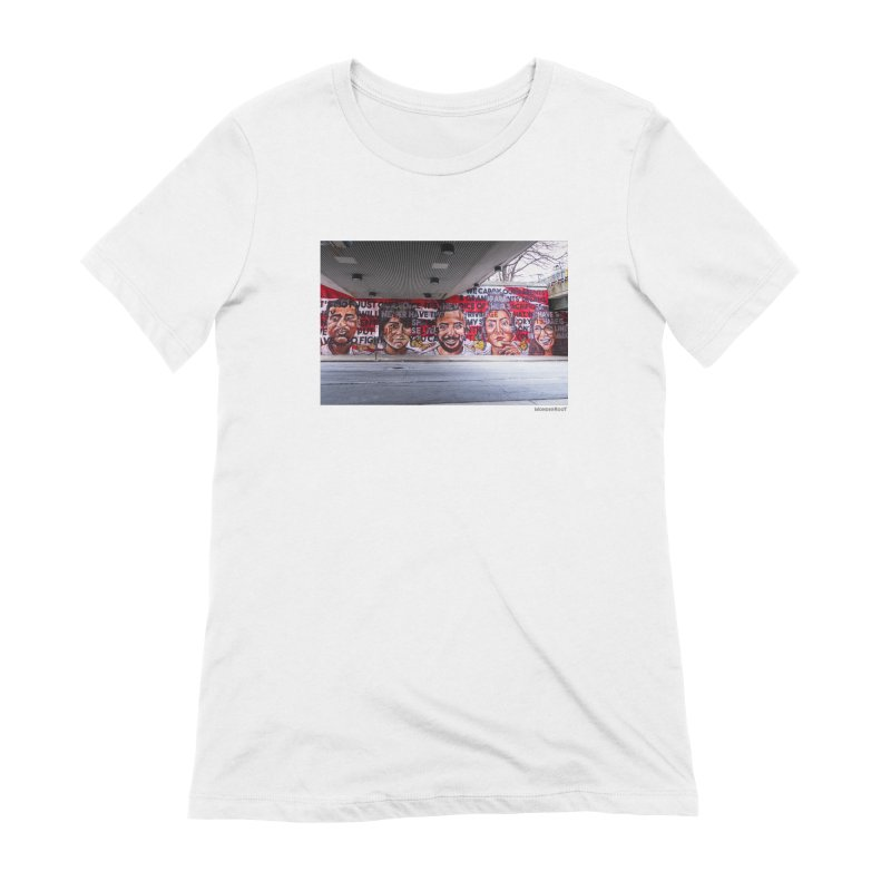"Yehimi Cambron ""Monuments: We Carry The Dreams"" for WonderRoot's Off The Wall Women's Extra Soft T-Shirt by WonderRoot's Artist Shop"