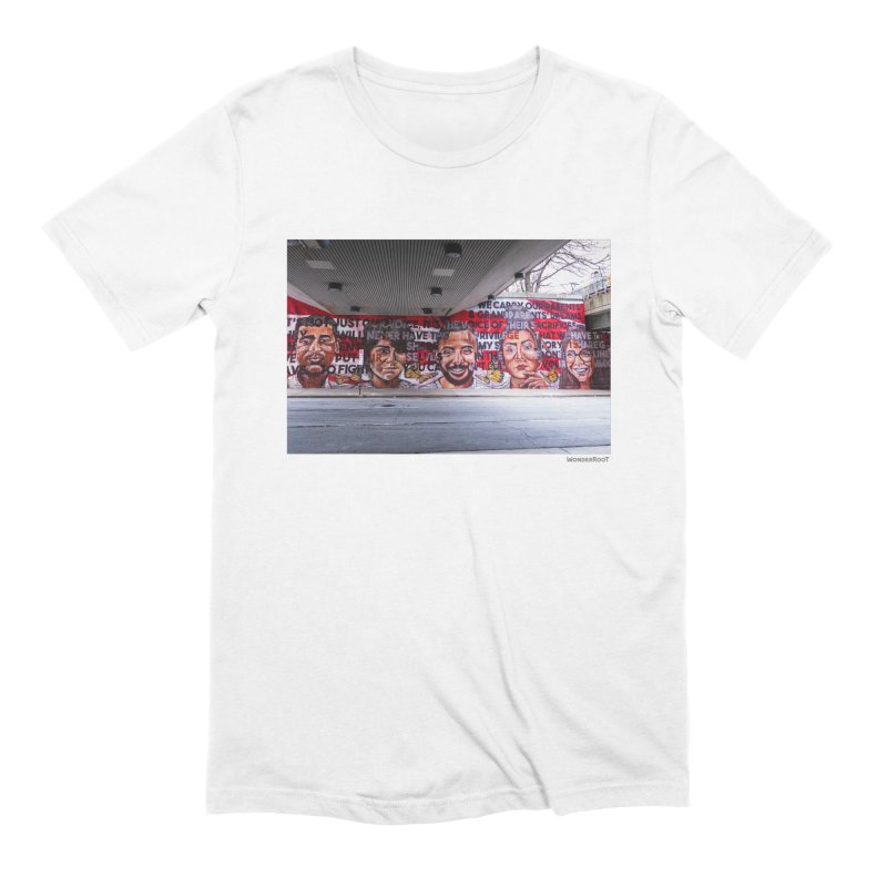 """Yehimi Cambron """"Monuments: We Carry The Dreams"""" for WonderRoot's Off The Wall Men's Extra Soft T-Shirt by WonderRoot's Artist Shop"""