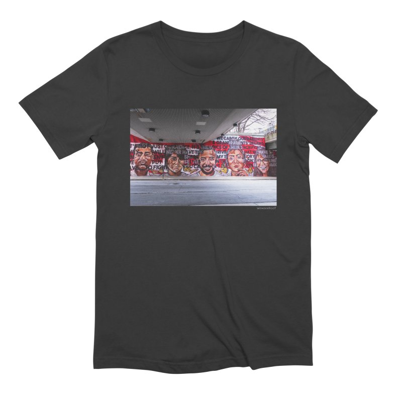 "Yehimi Cambron ""Monuments: We Carry The Dreams"" for WonderRoot's Off The Wall Men's Extra Soft T-Shirt by WonderRoot's Artist Shop"