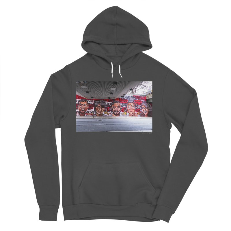 """Yehimi Cambron """"Monuments: We Carry The Dreams"""" for WonderRoot's Off The Wall Women's Sponge Fleece Pullover Hoody by WonderRoot's Artist Shop"""