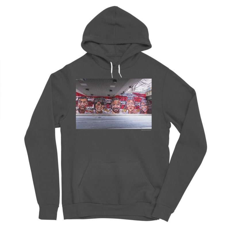 "Yehimi Cambron ""Monuments: We Carry The Dreams"" for WonderRoot's Off The Wall Men's Sponge Fleece Pullover Hoody by WonderRoot's Artist Shop"