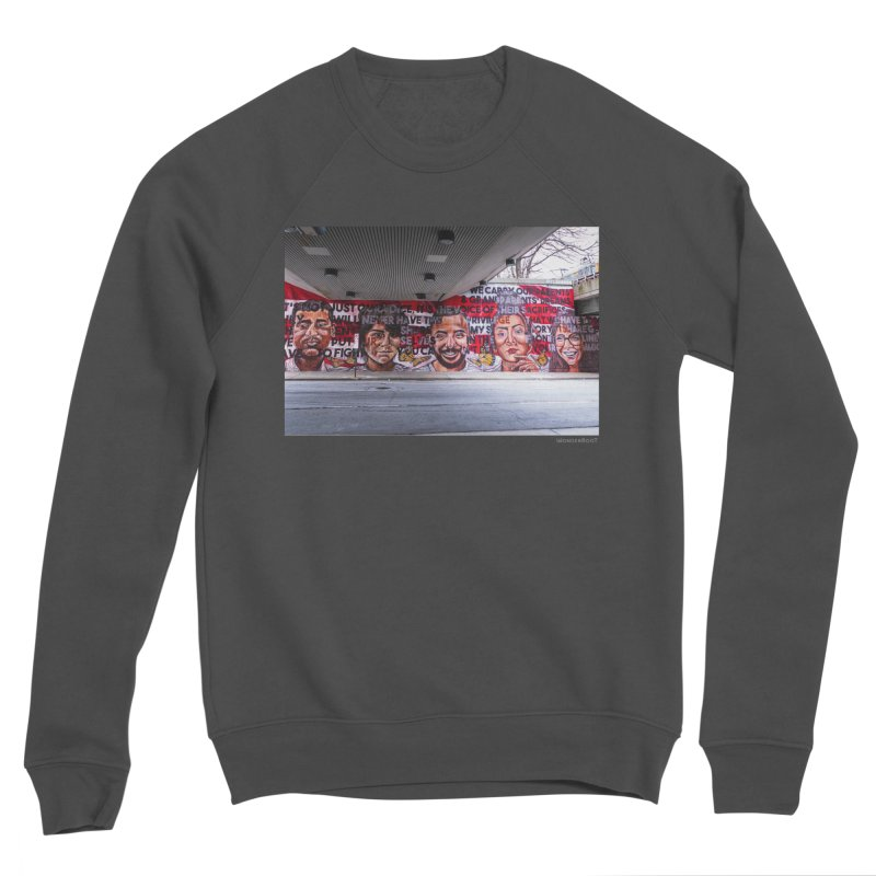 "Yehimi Cambron ""Monuments: We Carry The Dreams"" for WonderRoot's Off The Wall Men's Sponge Fleece Sweatshirt by WonderRoot's Artist Shop"