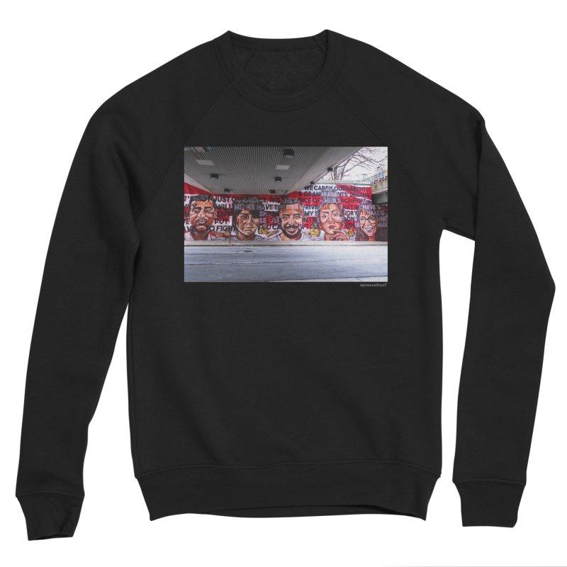 "Yehimi Cambron ""Monuments: We Carry The Dreams"" for WonderRoot's Off The Wall Men's Sponge Fleece Sweatshirt by WonderRoot's Artist Shop"