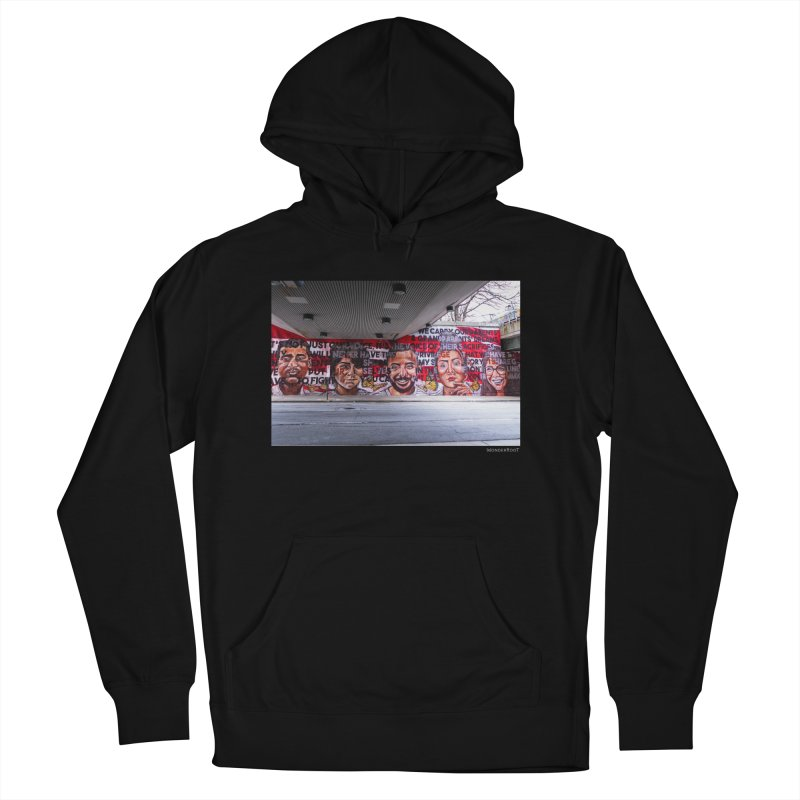 """Yehimi Cambron """"Monuments: We Carry The Dreams"""" for WonderRoot's Off The Wall Men's French Terry Pullover Hoody by WonderRoot's Artist Shop"""