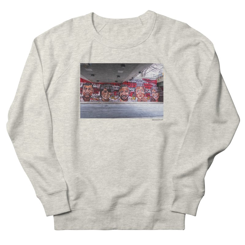 "Yehimi Cambron ""Monuments: We Carry The Dreams"" for WonderRoot's Off The Wall Women's French Terry Sweatshirt by WonderRoot's Artist Shop"
