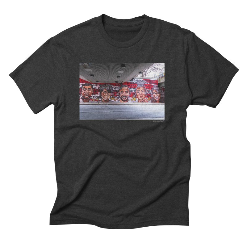 "Yehimi Cambron ""Monuments: We Carry The Dreams"" for WonderRoot's Off The Wall Men's Triblend T-Shirt by WonderRoot's Artist Shop"