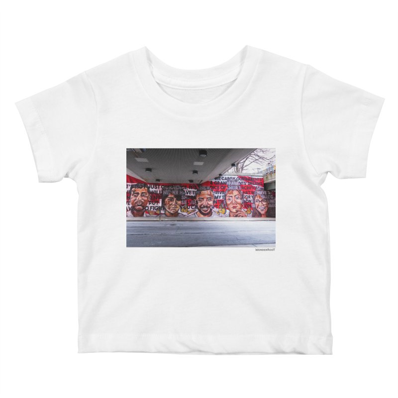 "Yehimi Cambron ""Monuments: We Carry The Dreams"" for WonderRoot's Off The Wall in Kids Baby T-Shirt White by WonderRoot's Artist Shop"