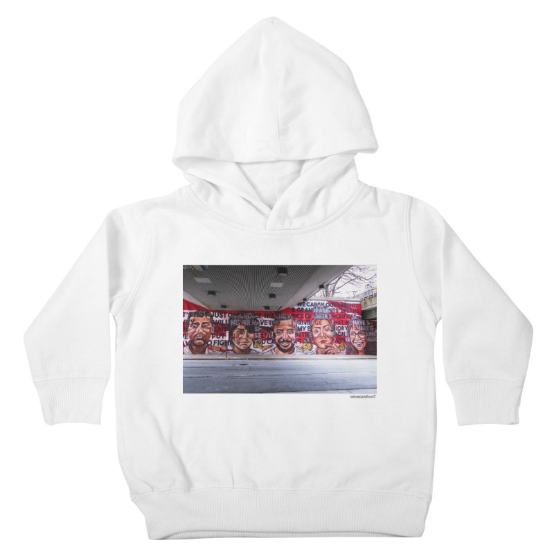 """Yehimi Cambron """"Monuments: We Carry The Dreams"""" for WonderRoot's Off The Wall Kids Toddler Pullover Hoody by WonderRoot's Artist Shop"""