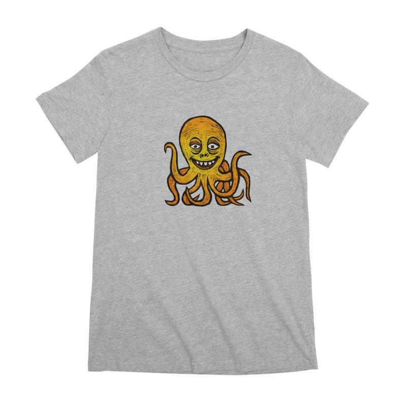 Shifty Octopus Women's Premium T-Shirt by Sean StarWars' Artist Shop