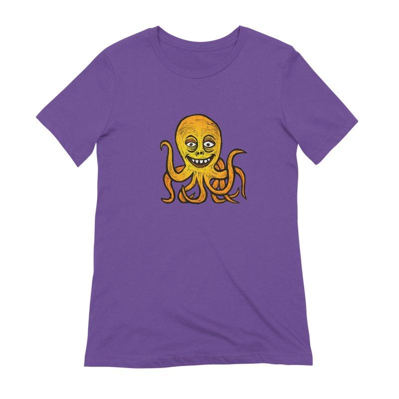 Shifty Octopus Women's Extra Soft T-Shirt by Sean StarWars' Artist Shop