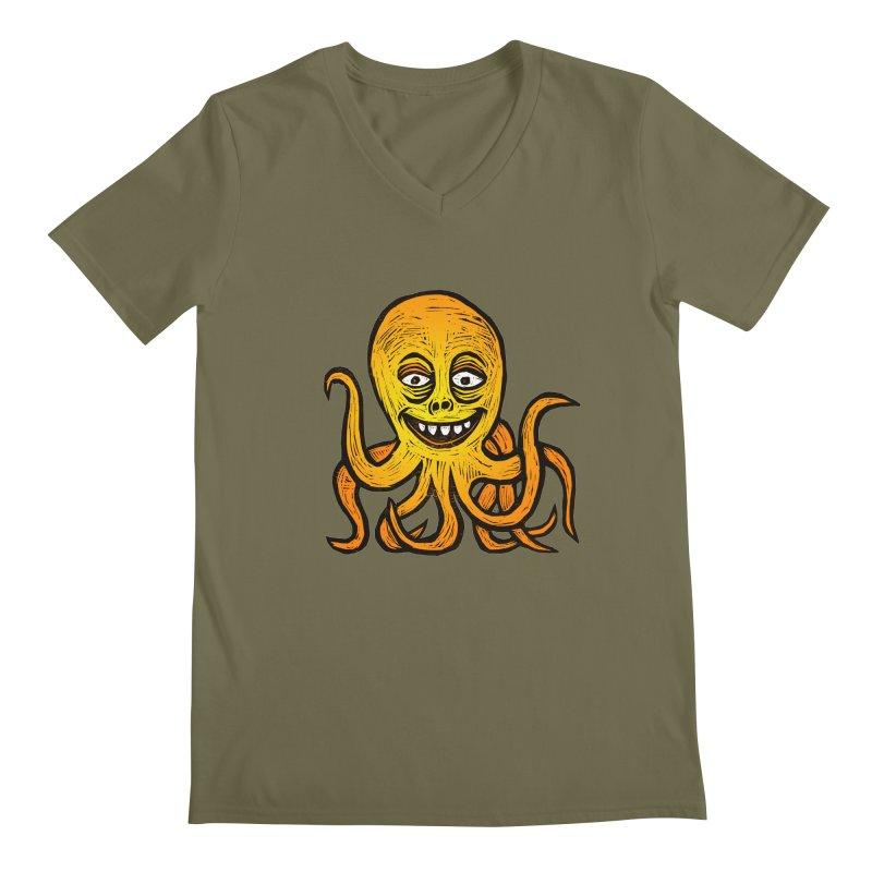 Shifty Octopus Men's Regular V-Neck by Sean StarWars' Artist Shop