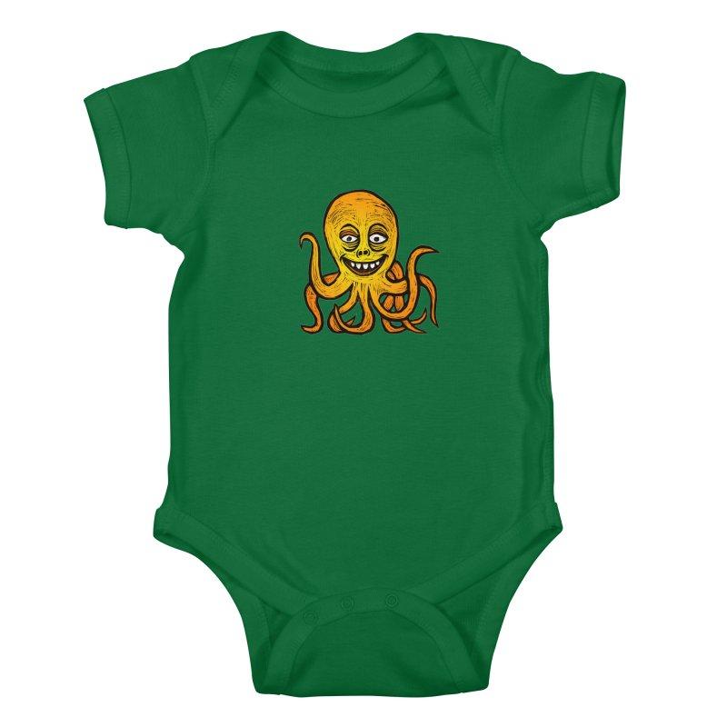 Shifty Octopus Kids Baby Bodysuit by Sean StarWars' Artist Shop