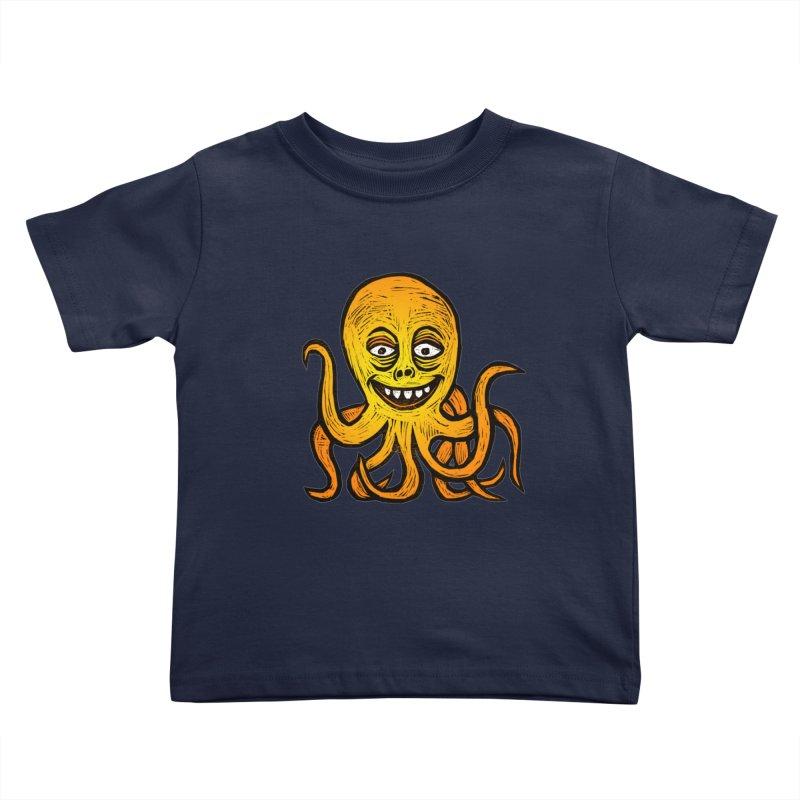 Shifty Octopus Kids Toddler T-Shirt by Sean StarWars' Artist Shop