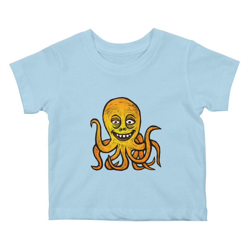 Shifty Octopus Kids Baby T-Shirt by Sean StarWars' Artist Shop
