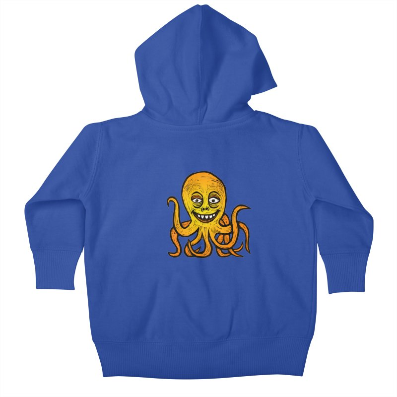 Shifty Octopus Kids Baby Zip-Up Hoody by Sean StarWars' Artist Shop