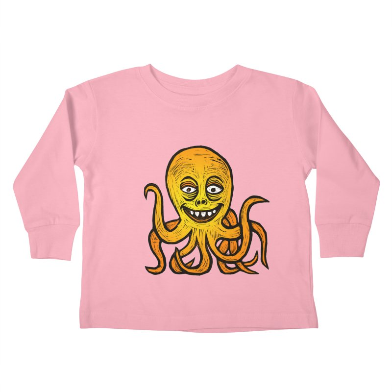 Shifty Octopus Kids Toddler Longsleeve T-Shirt by Sean StarWars' Artist Shop