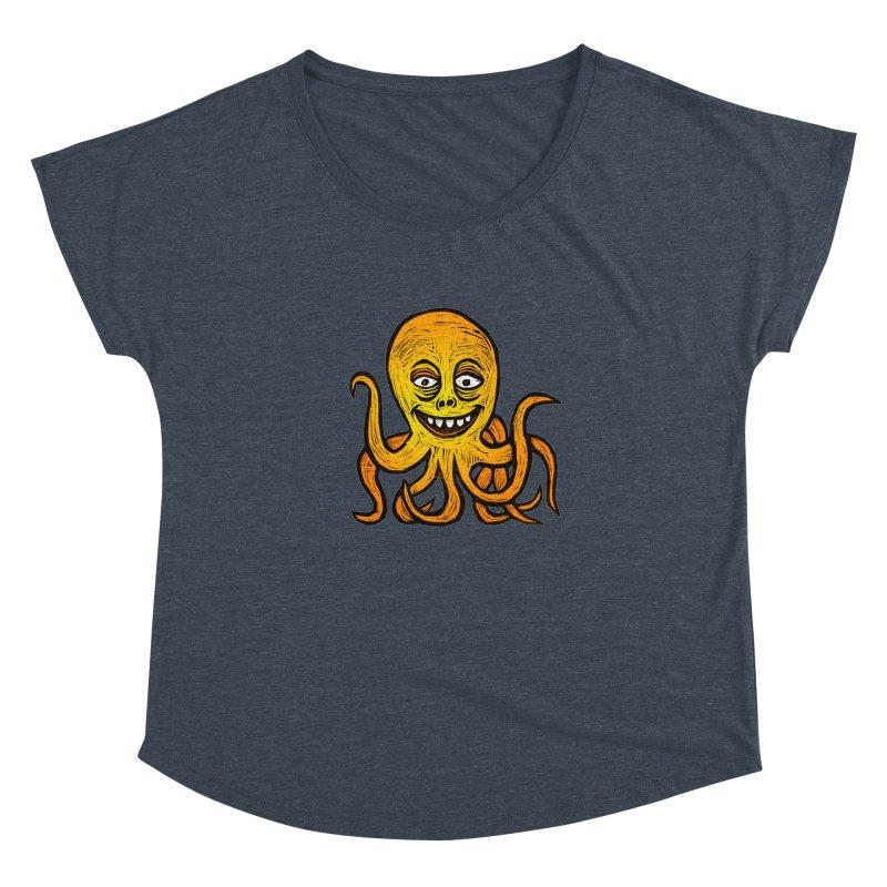 Shifty Octopus Women's Dolman Scoop Neck by Sean StarWars' Artist Shop