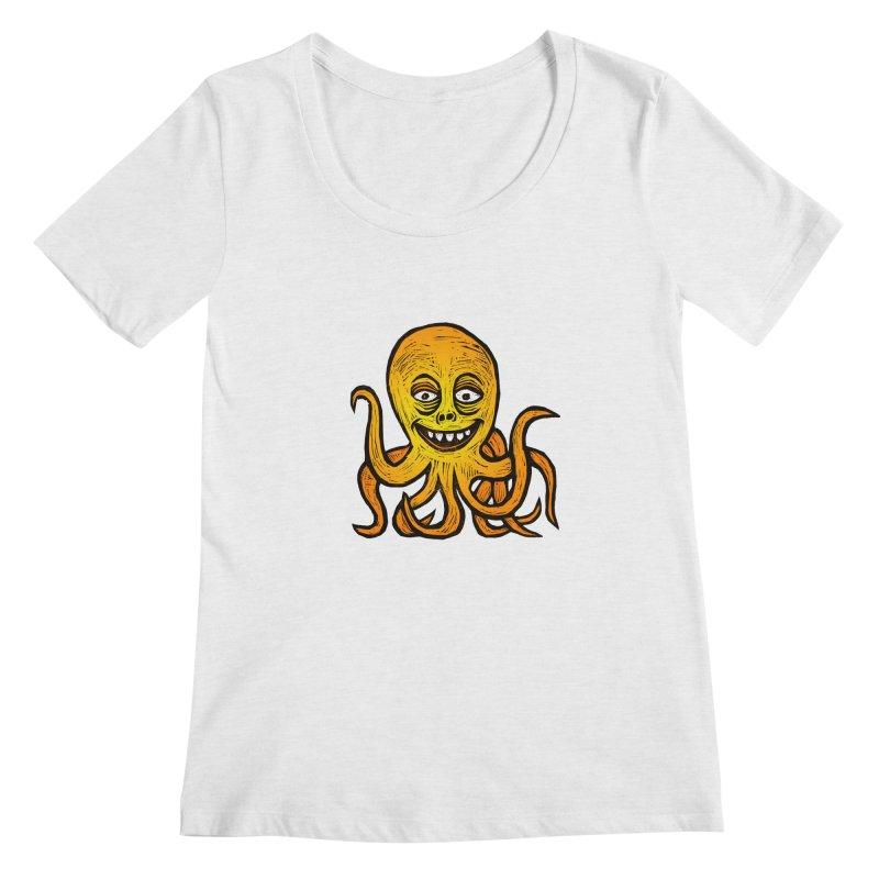 Shifty Octopus Women's Regular Scoop Neck by Sean StarWars' Artist Shop