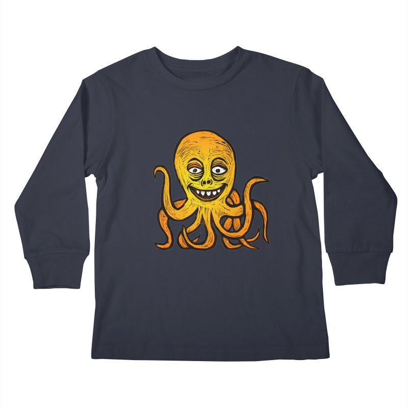 Shifty Octopus Kids Longsleeve T-Shirt by Sean StarWars' Artist Shop