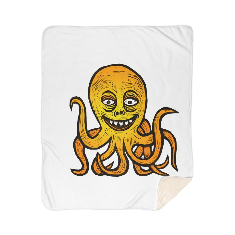 Shifty Octopus Home Sherpa Blanket Blanket by Sean StarWars' Artist Shop