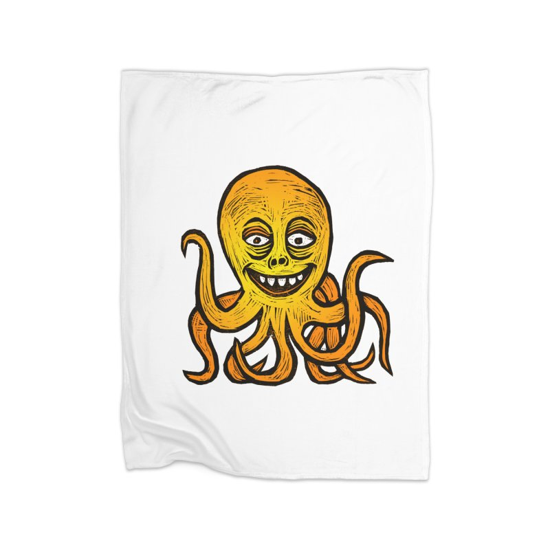 Shifty Octopus Home Fleece Blanket Blanket by Sean StarWars' Artist Shop