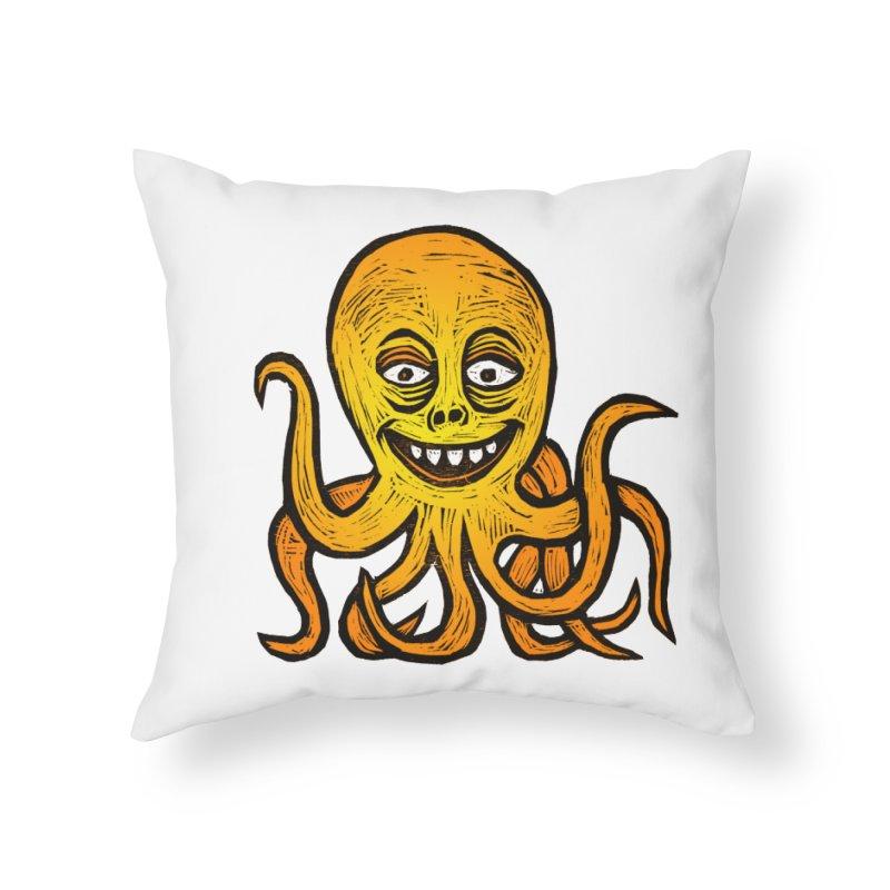 Shifty Octopus Home Throw Pillow by Sean StarWars' Artist Shop