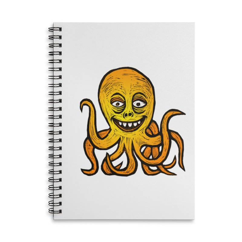Shifty Octopus Accessories Lined Spiral Notebook by Sean StarWars' Artist Shop