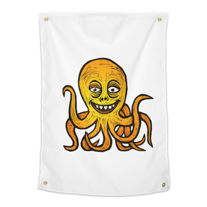 Shifty Octopus Home Tapestry by Sean StarWars' Artist Shop