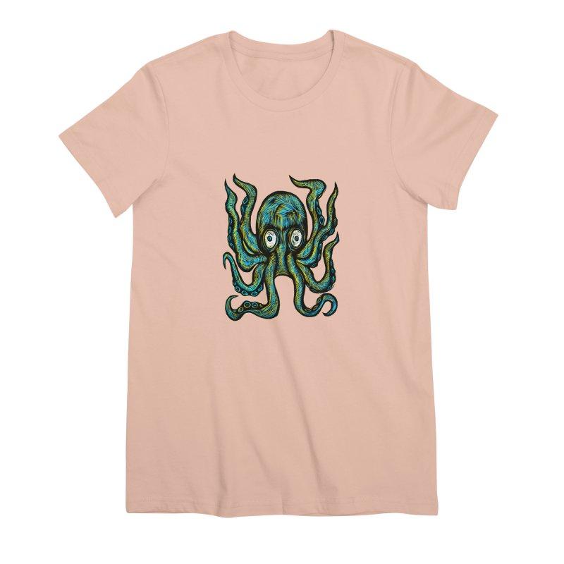 Octopus Women's Premium T-Shirt by Sean StarWars' Artist Shop