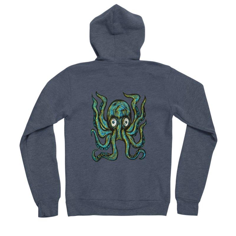 Octopus Men's Sponge Fleece Zip-Up Hoody by Sean StarWars' Artist Shop