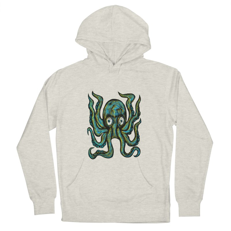 Octopus Men's French Terry Pullover Hoody by Sean StarWars' Artist Shop