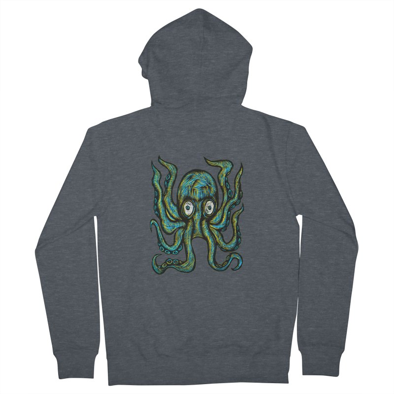 Octopus Women's French Terry Zip-Up Hoody by Sean StarWars' Artist Shop