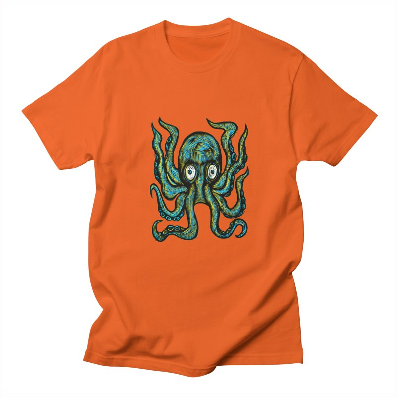 Octopus Women's Regular Unisex T-Shirt by Sean StarWars' Artist Shop