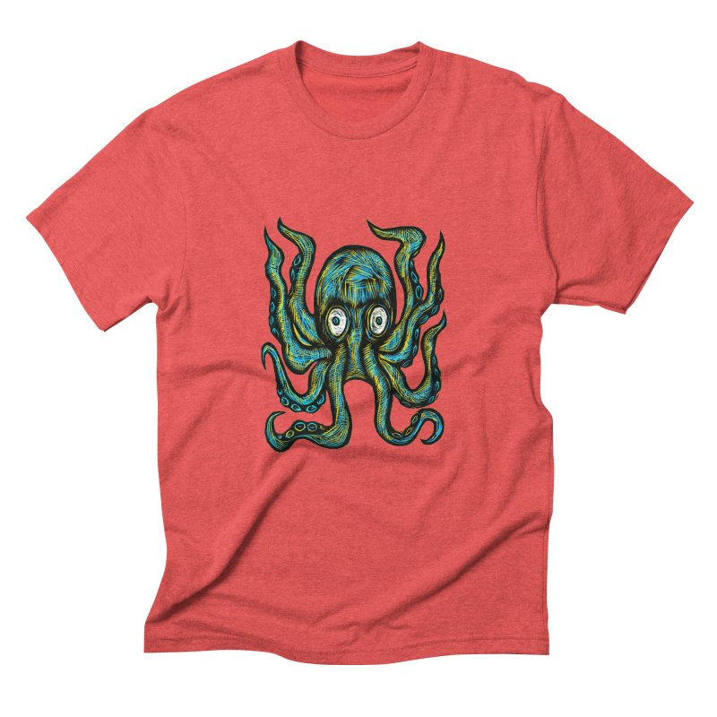 Octopus Men's Triblend T-Shirt by Sean StarWars' Artist Shop