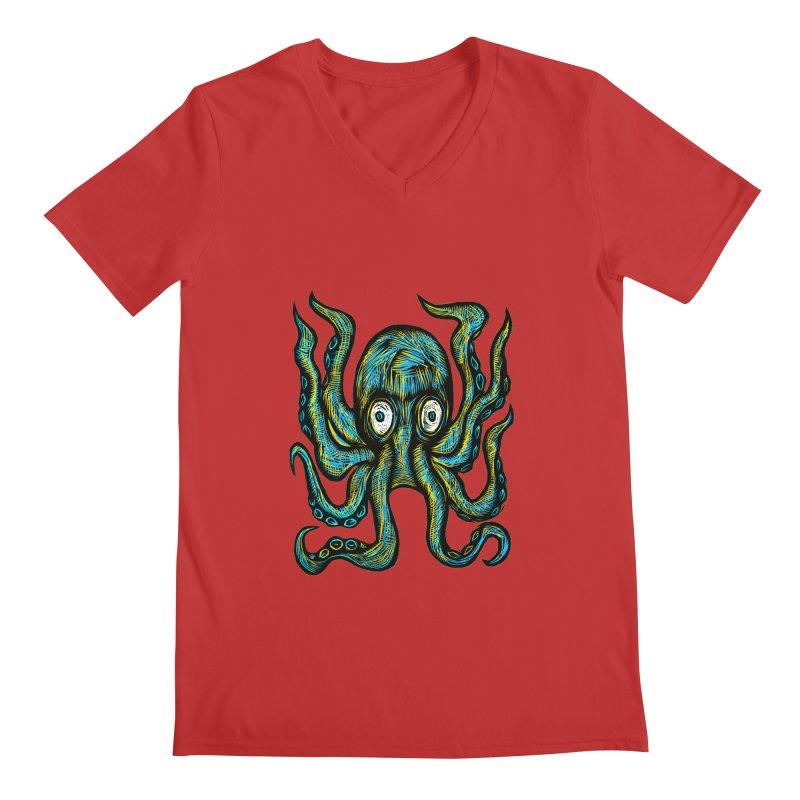 Octopus Men's Regular V-Neck by Sean StarWars' Artist Shop
