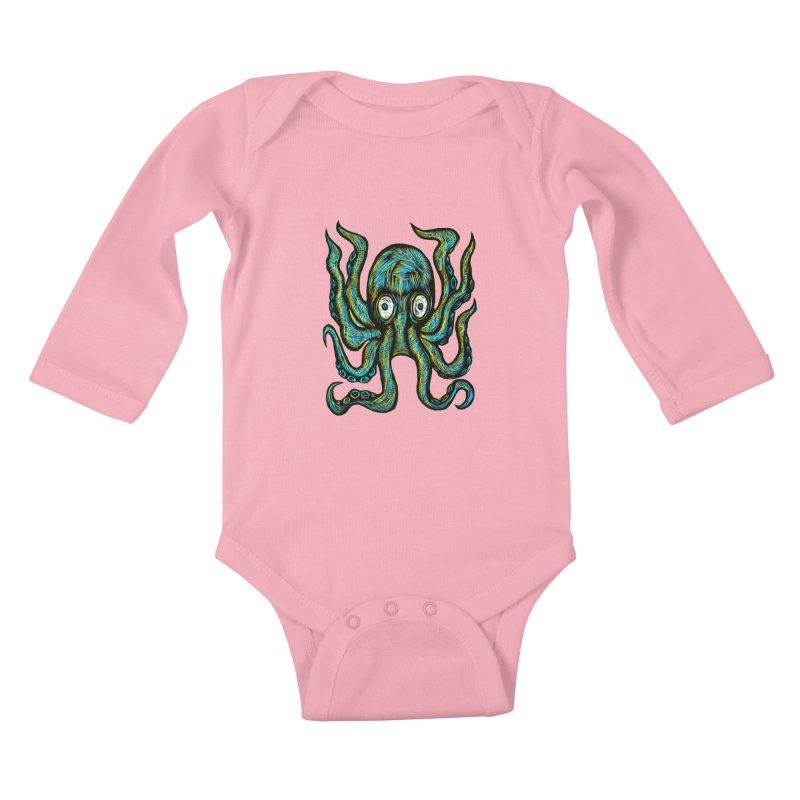 Octopus Kids Baby Longsleeve Bodysuit by Sean StarWars' Artist Shop