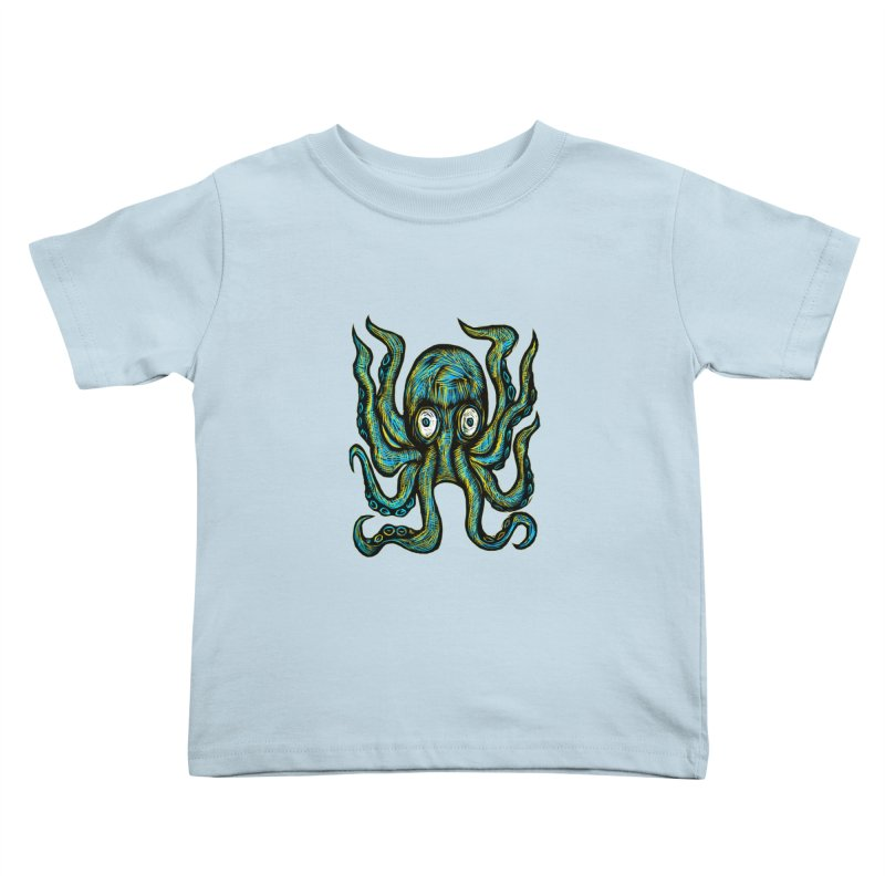 Octopus Kids Toddler T-Shirt by Sean StarWars' Artist Shop