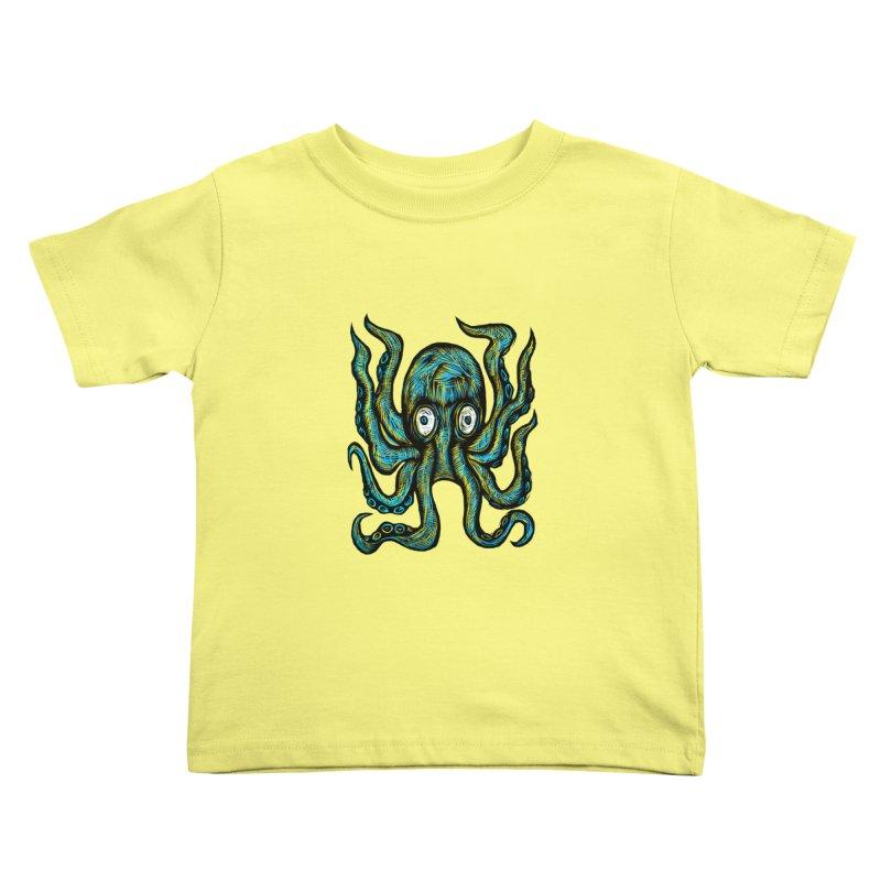 Octopus Kids Toddler T-Shirt by Sean StarWars' Artist Shop