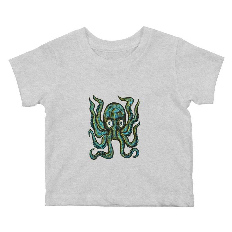 Octopus Kids Baby T-Shirt by Sean StarWars' Artist Shop
