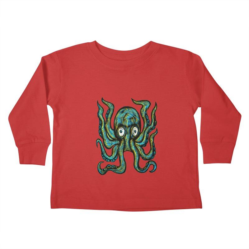 Octopus Kids Toddler Longsleeve T-Shirt by Sean StarWars' Artist Shop