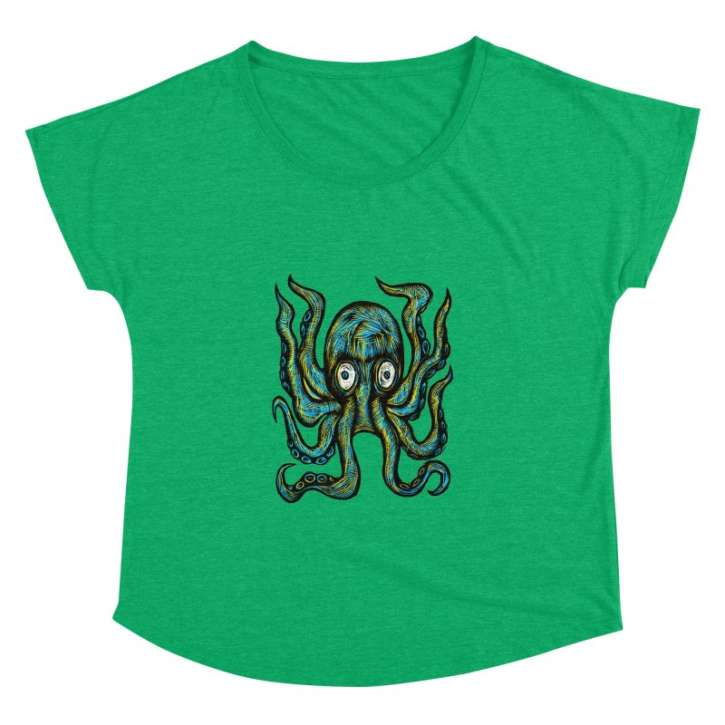 Octopus Women's Dolman Scoop Neck by Sean StarWars' Artist Shop