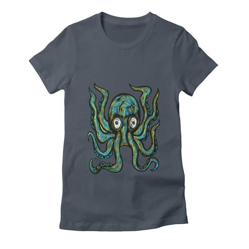 Octopus Women's T-Shirt by Sean StarWars' Artist Shop