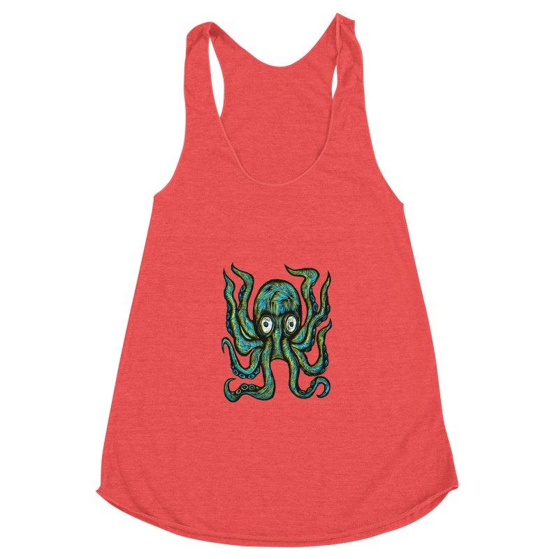 Octopus Women's Racerback Triblend Tank by Sean StarWars' Artist Shop