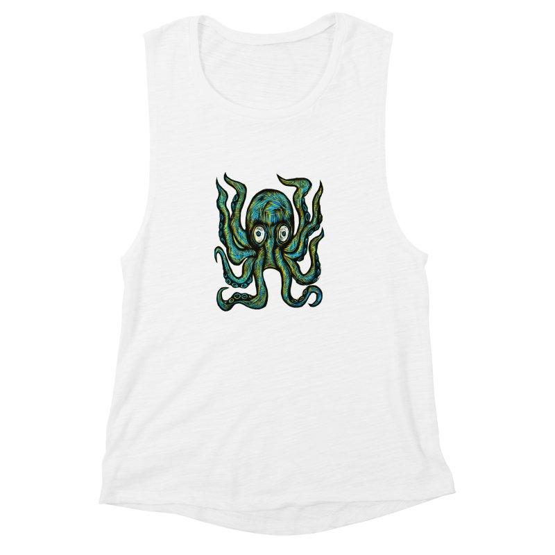 Octopus Women's Muscle Tank by Sean StarWars' Artist Shop