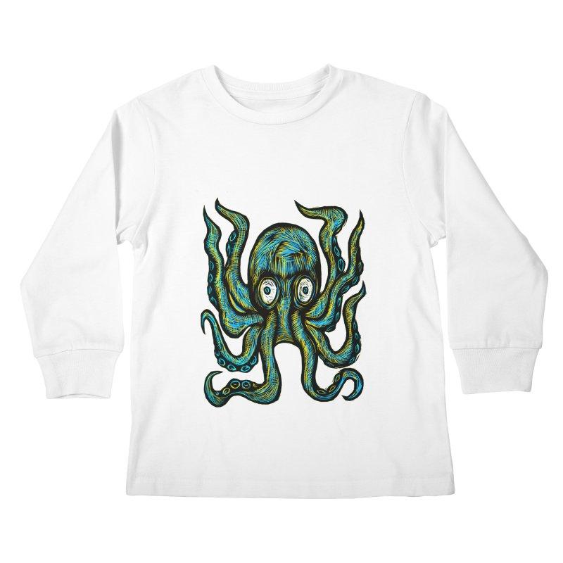 Octopus Kids Longsleeve T-Shirt by Sean StarWars' Artist Shop