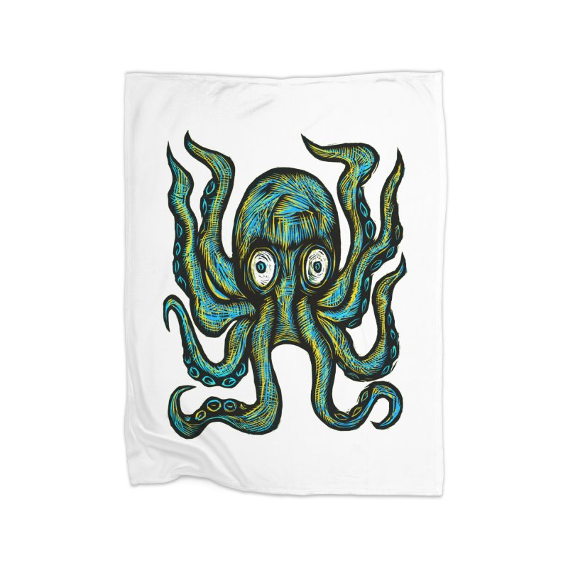 Octopus Home Fleece Blanket Blanket by Sean StarWars' Artist Shop