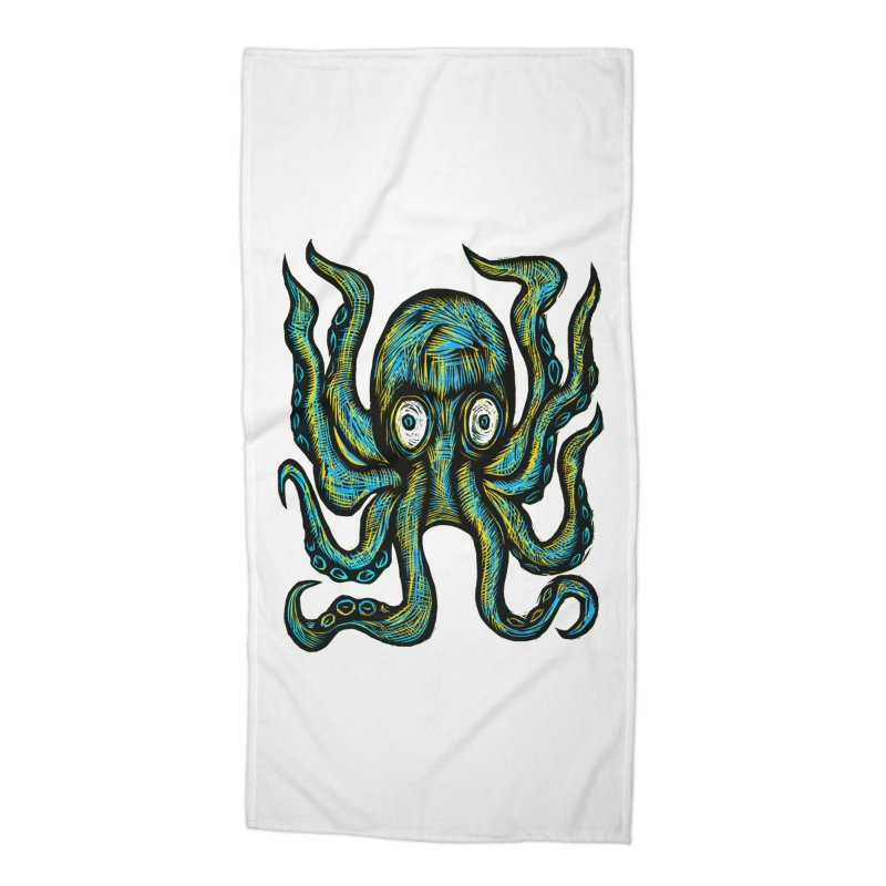 Octopus Accessories Beach Towel by Sean StarWars' Artist Shop