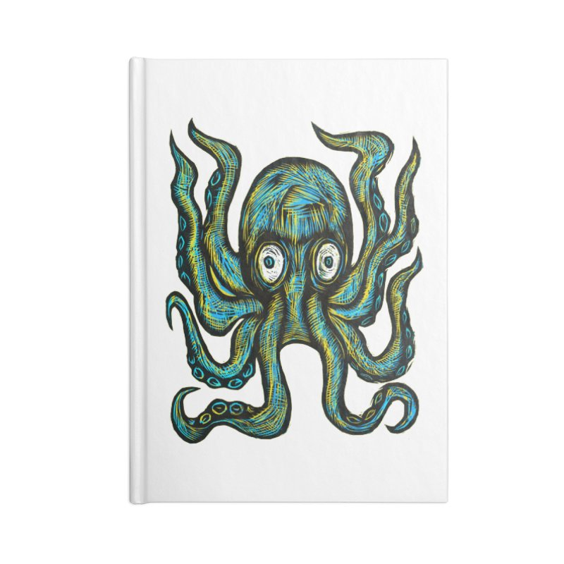 Octopus Accessories Lined Journal Notebook by Sean StarWars' Artist Shop